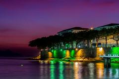 Forte de Copacabana - Rio de Janeiro (mariohowat) Tags: alvorada riodejaneiro amanhecer noturnas longaexposição brasil brazil sunrise canon 6d canon6d