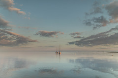 Tranquility (Explore 5/4/17) (merseamillsy) Tags: tranquil tranquility cloudscape calm peaceful water clouds boats mersea minimalist sea calming tone pastel tide boat essex evening pink coastal sunset sky seascape coastline coast merseaisland seaside