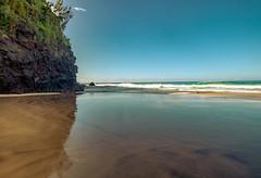 Hanakapi'ai Beach (auberginbear) Tags: kauai hawaii beach hanakapiai kalalautrail reflection turquoise hilife landscape hiking wanderlust