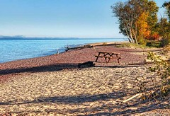 "A Rocky Beach on the Keweenaw Peninsula at Eagle River Michigan (PhotosToArtByMike) Tags: eagleriver michigan mi keweenawpeninsula upperpeninsulaofmichigan upperpeninsula up uppermichigan lakesuperior autumn autumnleaves rockycoastline stonybeach beach ""rocky village"