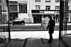 (formwandlah) Tags: kaiserslautern sunny day winter street photography streetphotography silhouette silhouettes silhouetten shadow schatten dark noir urban candid city strange gloomy cold sureal bizarr skurril abstract abstrakt melancholic melancholisch darkness light bw blackwhite black white sw monochrom high contrast ricoh gr pentax formwandlah thorsten prinz licht shadows fear paranoia einfarbig schwarzer hintergrund nacht fotorahmen spiegelung reflection reflektion schärfentiefe bürgersteig landstrase personen snow schnee schirm regenschirm umbrella christmas tree framed gasse architektur schneefall snowfall blizzard snowstorm schneesturm outdoor