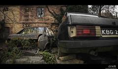 The Garden (Ulvraith) Tags: old car classic auto rusty abandoned house garden tatra 613 czech sony a500 poland