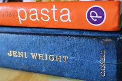 Cookery books (JulieK (enjoying Spring in Co. Wexford)) Tags: macromondays hmm books kitchen canoneos100d text colour 2017onephotoeachday tabletop