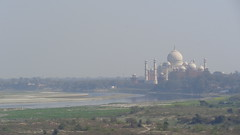 Taj Mahal and the Yamuna River from Agra Fort (Rckr88) Tags: india agra agrafort fort uttarpradesh taj mughal travel asia tajmahal mughals