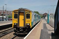 150242 at Barry. 17/6/14 (Nick Wilcock) Tags: wales barry railways valeofglamorgan bridgend merthyr arriva sprinter 1502 dmu atw arrivatrainswales class150 150242 2e32
