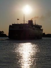8:30 Sailing (elryerson85) Tags: michigan ships lakemichigan greatlakes badger fourthofjuly july4th independenceday ludington carferry ssbadger boatnerd greatlakeships sailinglakemichigan