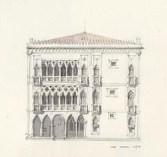 Ca' d'Oro (Flaf) Tags: ca venice colour water pencil casa drawing gothic florian palazzo venezia venedig galleria freie doro gotik gotico franchetti flaf afflerbach zeichnerei