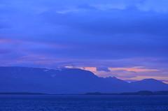 Sun breaking through over Iceland