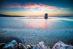 Lagoon sunset (long exposure version) (luigig75) Tags: longexposure sunset italy windmill clouds canon landscape italia tramonto lagoon laguna toscana paesaggio mulino orbetello hoya argentario canonefs1022mmf3545usm nd400 70d esposizionelunga
