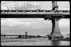 _LAN0085 (Meaningful Blur) Tags: nyc bridge bw ny newyork art brooklyn river poster manhattan wallart eastriver williamsburg etsy decor