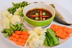 น้ำพริกกะปิปลาทูทอด ร้านบ้านต้นไข่ ถนนสามัคคี