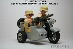 Lego ww2gms (Keaton FillyDing) Tags: brick bike soldier gun lego german figure ww2 motorcycle vehicle ww1 custom built sidecar minifigure brickarms brickforge fillyding