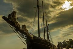 Kajama - the schooner (Pradipta Basu) Tags: street city sky cloud toronto ontario canada boat ship afternoon fuji harbour vessel harbourfront schooner kajama x100s pradiptabasu