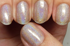 Carpe Noctem Cosmetics Dinglehopper (http://www.thepolishedhippy.com) Tags: silver leaf swatch nail polish indie etsy cosmetics flakes shimmer linear sheer holographic varnish carpe swatches lacquer holo noctem