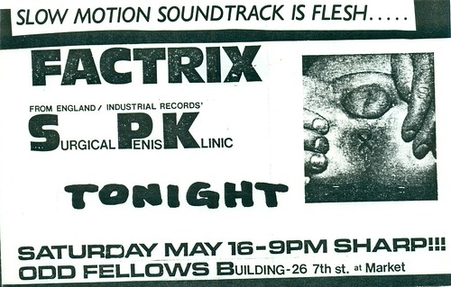 FACTRIX, S.P.K. (From Germany) at the Odd Fellows Bldg. San Francisco, CA 1980