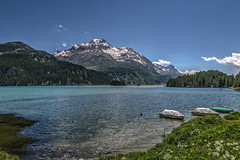Silsersee - HDR (bohnengarten) Tags: mountain lake alps schweiz switzerland maria swiss alpen engadin silvaplana sils graubünden silvaplanersee silsersee