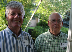 Board members Dave McCullough and Al Hubbs