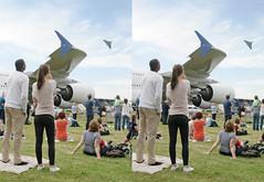 3D Farnborough 2014 Vulcan A380 (3D shoot) Tags: stereoscopic 3d display aircraft airshow stereo vulcan bomber parallel farnborough stereoscope airdisplay vulcanbomber 3dshoot