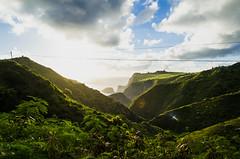 Kahakuloa Morning (airinnajera) Tags: ocean road morning sun mist mountains love clouds sunrise fence landscape island hawaii nikon peace power cows farm country maui mysterious mana aloha d5100