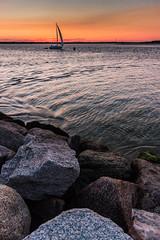 Sail Away (loomstone) Tags: seascape sailboat sunrise capecod massachusetts hyannis breakwater lewisbay