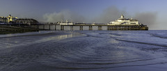 Eastbourne Pier Smouldering (JamboEastbourne) Tags: england fire sussex pier july east eastbourne 2014