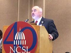 Rep. Matt Hudson speaking at an NCSL gathering