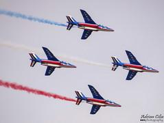France Air Force --- Patrouille De France --- Dassault-Dornier Alpha Jet E (Drinu C) Tags: plane aircraft military sony dsc ffd fairford dassault dornier riat alphajet patrouilledefrance theroyalinternationalairtattoo egva franceairforce hx100v adrianciliaphotography