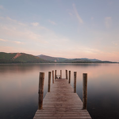 Derwent Water at Dawn (www.damientaylor.co.uk) Tags: lake water dawn wooden long exposure skies district jetty derwent landing cumbria ashness
