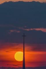 Sunset over the Holy City (ZakCollins) Tags: sunset church silhouette skyline nikon dusk vibrant 85mm steeple charleston charlestonsc landscapephotography zakcollins