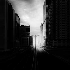 Infinity (Waheed Akhtar Photography) Tags: road light blackandwhite bw monochrome architecture canon dark mono infinity fineart uae sharjah unitedarabemirates bwphotography fineartphotography blackandwhitephotography waheedakhtar