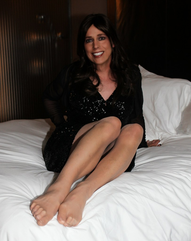 Tranny stockined feet