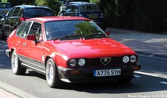 Alfa Romeo GTV 2.0 1984 (XBXG) Tags: auto old italy holland classic netherlands car vintage drive italian automobile italia hand nederland right voiture 1984 alfa romeo gtv 20 alfaromeo paysbas coupe italie coup ancienne rhd overveen italienne a775syh