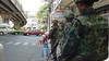 ©Gonzalo Abad. Thai soldiers carry weapons and monitor the situation of the roads with traffic in Bangkok. (Gonzalo A.) Tags: thailand army bangkok coup martiallaw thaiarmy