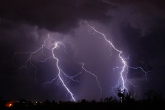 Thunderstorm (dmguz) Tags: arizona storm rain monsoon bolt strike lightning sierravista