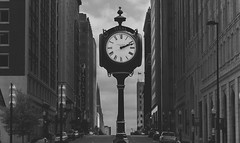 Livin' On Tulsa Time (Stitch-Jones) Tags: life street building tower art clock oklahoma boston skyline canon centennial downtown atlas tulsa avenue deco 550d 18135mm t2i