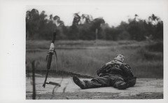 Marine Rests on Road, Operation Meade River, 1968 (Marine Corps Archives & Special Collections) Tags: river marine war vietnam corps marines operation meade