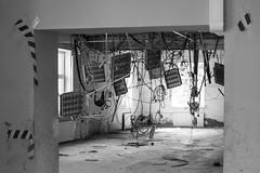 (linasamoukova) Tags: blackandwhite bw building broken construction russia wires saintpetersburg renovation tangled 2014