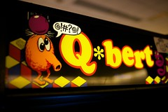 Q*bert (little fern photography) Tags: show seattle fire jump nw shoot northwest buttons arcade hobby joystick retro videogames 80s button pacificnorthwest videogame hobbies qbert highscore gameroom pacificnw arcadegame gottlieb arcardes nwpinballandgameroomshow