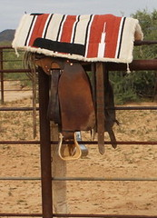 WADE SADDLE (AZ CHAPS) Tags: ranch leather cowboy gear bit saddle corral bridle saddlepad
