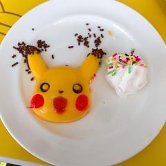 Pikachu mango gelatin (RangerRick) Tags: food japan tokyo pikachu pokemon  nippon roppongi  roppongihills pokmon minato nihon moritower   tky tokyocityview   roppongihillsmoritower  cynthiasiphone pikachucaf minatoku weirdfunnycute