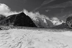 point 3004 . Diavolezza (Toni_V) Tags: schnee bw snow mountains alps monochrome landscape schweiz switzerland blackwhite suisse hiking rangefinder glacier alpen svizzera gletscher engadin wanderung m9 2014 bernina oberengadin graubünden grisons svizra sep2 diavolezza summiluxm grischun 35mmf14asph niksoftware 35lux messsucher 140824 ©toniv leicam9 l1018222