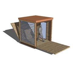 3_les rongeurs_cubico_render (reyneriarchitetti) Tags: architecture design container modular surprise concept architettura legno tronc leggero minima modulo prototipo ecologico unit rongeurs riciclabile cubico abitativa multifunzionale