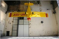 hanging airplane art (piktorio) Tags: sculpture berlin art airplane hall object space air hanging ultralight ventilator turning neuklln artweekberlin piktorio