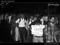 #hokkolorob (PrasunDutta) Tags: people blackandwhite bw india support nikon politics protest it saltlake kolkata ju bengal westbengal blackwhitephotography d90 prasun sectorv jadavpuruniversity nikond90 sector5 prasundutta paschimbanga prasunsphotography hokkolorob
