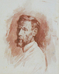 José Ruiz y Blasco, father of Pablo Picasso, the drawing by Pablo Picasso (c. 1896)