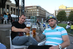 Having a beer at The schlosspark, Stuttgart!