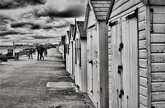Storm Clouds Gathering (Mono) (Cozy61) Tags: bay board d2x drysuit essex kite nikon river sport street surfing thames thorpe westsuit huts beach monochrome hdr photography