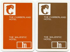 The Cumberland Hotel, 20 East Overcliff Drive AND the Majestic Hotel, 36 Derby Road, East Cliff, Bournemouth, Dorset (Alwyn Ladell) Tags: dorset bournemouth eastcliff derbyroad majestichotel eastovercliffdrive thecumberlandhotel playingcard
