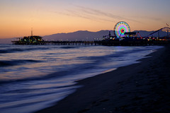 Whirl (BrianEden) Tags: ferriswheel xpro1 ocean sunset pier beach losangeles sky sand fuji santamonica fujifilm la california unitedstates us