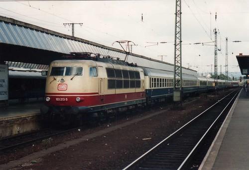 DB 103 213, Koblenz Hbf, 24-08-1993